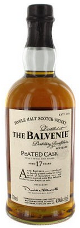 The Balvenie Scotch Single Malt 17 Year Peated Cask